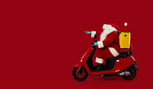 Santa Claus Courier In A Prote...