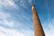 A Tall Chimney Called La Ramona At An Old Mining Town In Baja