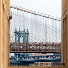 USA, New York, New York City, Manhattan Bridge