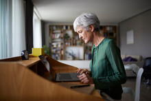 Active Senior Woman Concentrat...