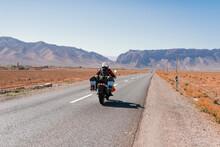 Biker Riding An Adventure Moto...