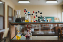 Lab Glassware In A School Clas...
