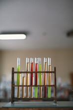 Lab Glassware In A School Classroom