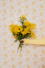 Crop Model Showing Bouquet Of Yellow Flowers