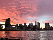 A Vibrant Sunset View Of The N...