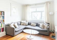 Cozy Living Room With Sofa, Cu...