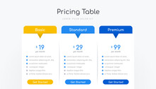 Pricing Table Infographic Design