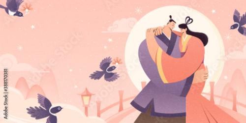 Billede på lærred Chinese Valentine's Day