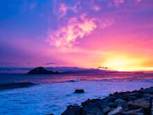 夕焼け 伊良湖岬