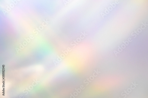 Blurred rainbow light refraction texture overlay effect for photo and mockups Canvas Print