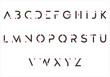 alphabet capital A to Z letter logo design