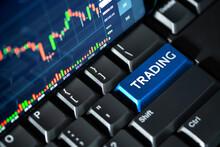 Stock Market Chart Screen On K...