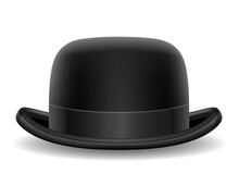 Bowler Hat Black Retro Vector ...