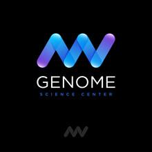 Genetics Logo. DNA Spiral  Log...