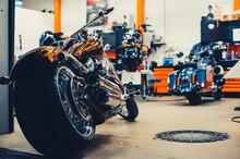 Motorcycle Rear Wheel With Bel...