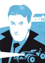Francis Scott Fitzgerald Vector Illustration