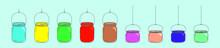 Set Of Mason Jar Cartoon Icon ...