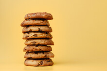 Pile Of Chocolate Chip Cookies...