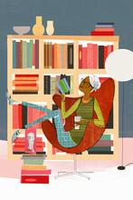 Woman Relaxing Reading