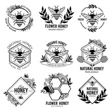 Honey Labels. Beekeeping Eco P...