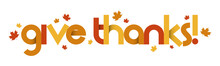 GIVE THANKS Vector Typography ...