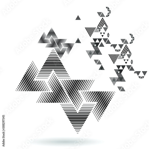 Vector Hipster Triangle Background . Pattern  . Abstract modern Geometrical Design Template .angular shapes. Wall mural