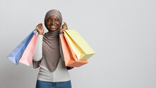 Happy Black Muslim Shopaholic ...