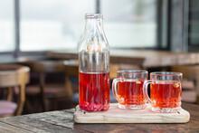 Berry Kombucha Drink And Glass...