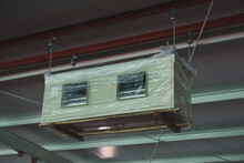 Hang The Air Handling Unit Under The Steel Beam And Anti-vibration Springs.