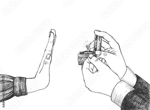 Fototapeta marriage proposal refusal