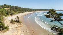 Oregon Coast Landscape With Cl...