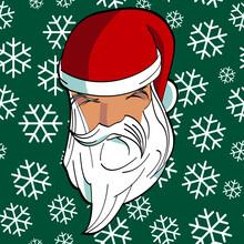 Decoration, Character, Season, Winter, Greeting, December, Icon, Claus, Face, Happy, Holiday, Cute, Christmas, Design, Santa, Cartoon, Illustration, Vector, Santa Claus, Gift, Snow, Red, Tree, Celebra