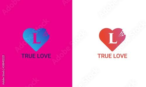Cuadros en Lienzo true love logo desigen