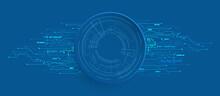 テクノロジーイメージのベクター素材青色