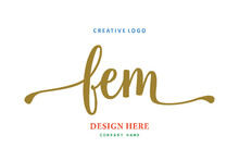 FEM Lettering Logo Is Simple, Easy To Understand And Authoritative