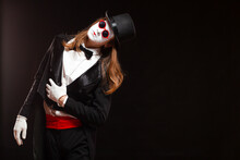 Portrait Of Male Mime Artist P...