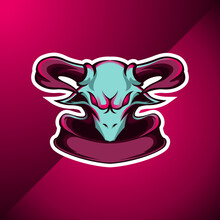 Goat Head Logo Mascot For Sport And Esport Team Vector Illustration
