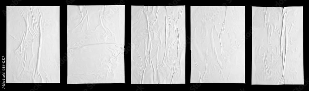 white paper wrinkled poster
