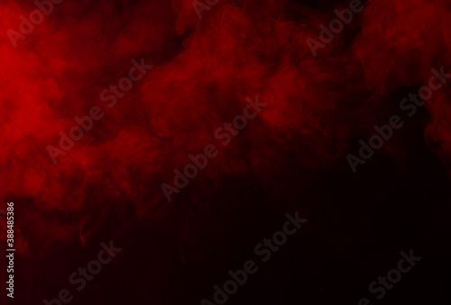Fototapety, obrazy: Red smoke on black background