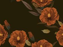 Vintage Botanical Pattern, Han...