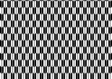 和紙テクスチャの白黒の矢絣、和柄パターン背景素材