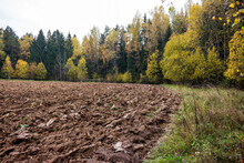 A Plowed Agricultural Field By...