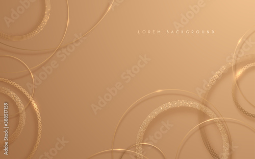 Fototapeta Abstract gold circle lines background obraz