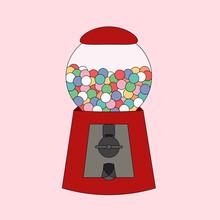 Candy Machine Gumball Retro 80s