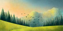 Watercolor Grunge Illustration...