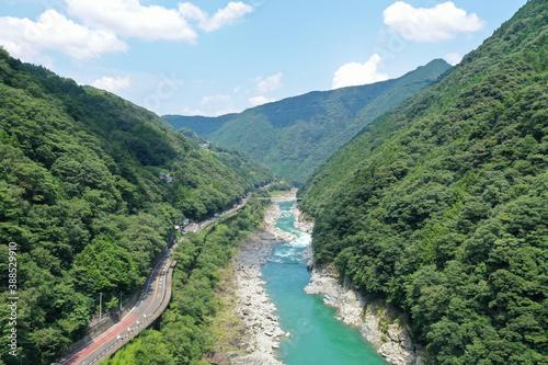 Obraz na plátně 徳島県三好市 小歩危峡の風景