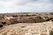 Sicht auf die alte Stadt Jerusalem und die Moschee Dome of the Rock mit ihrem prächtigen, goldenem Dach, Israel