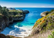China Cove And Spectacular Rock Formations At Point Lobos State Natural Reserve