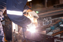 Man Working Welding Steel,male...