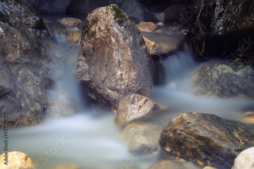 Obraz na plátně clear water in the river with rocks
